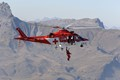 Demo of the Swiss organization REGA rescue helicopter at the Axalp airshow 2007