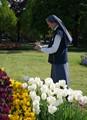 Nun at TulipFest