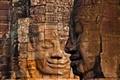 Detail of Bayon, Angkor Cambodia