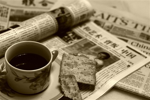 Coffee & newspaper