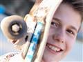 The smiling skater