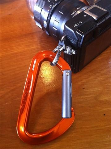 Camera on Carabiner