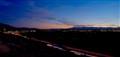 Salt Lake City, Utah, USA looking south east bench I-215