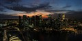 Singapore Sunset Skyline Panorama 5
