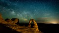 Milkyway and the Delicate Arch, Utah-4165