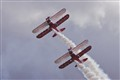 Guinot Wing Walkers on Stearman Biplane