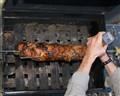 Peppering Pork Roast, Brined in Classic Coke,Cherrywood Smoked