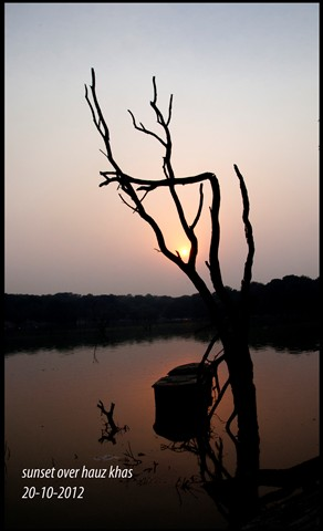 sunset hauz khas
