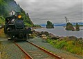 Steam train along Oregon's coast.