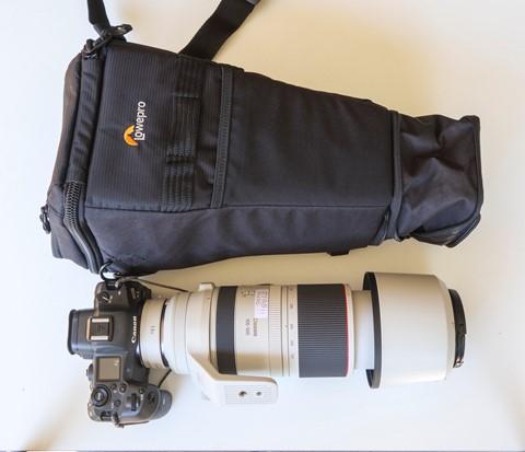 Kit beside bag