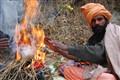Warming up at Rishikesh