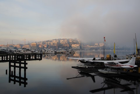 a.m. fog at the marinas