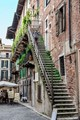 Steep staircase in Verona