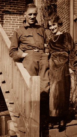 WWI Man with Sister