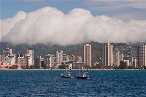 Waikiki Beach from a Boat