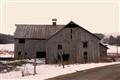 wooden barn.