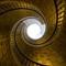 Triple helical stairway