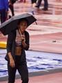KJT in the rain