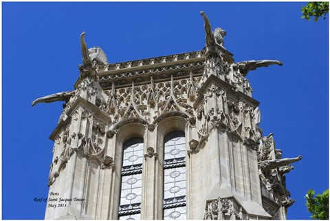 HG1A1605 Paris - Roof of the Tour Saint Jacques 2000-
