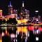 Midnight Melbourne Skyline