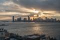 New York sunset skyline from Whitney Museum