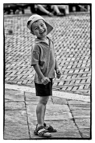 Sorriso di bimbo b&w