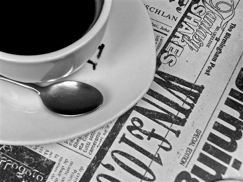 The perfect combination: Coffee and the paper