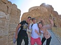 Israeli high school kids having fun at Masada
