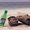 shoe on beach