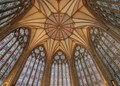 Looking up to the ceiling of the Chapter House, York Minster