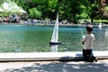 Boy and his boat - Central Park NYC