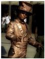 Bronze man -  street performer