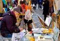 Artists at Sacré Coeur in Paris, France