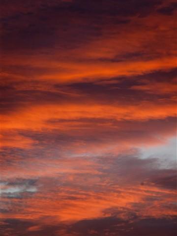 chmury zachód słońca