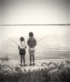Little Girls Fishing