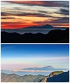Dusk and dawn over Teneriffa