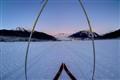 skiing full moon mendenhall glacier