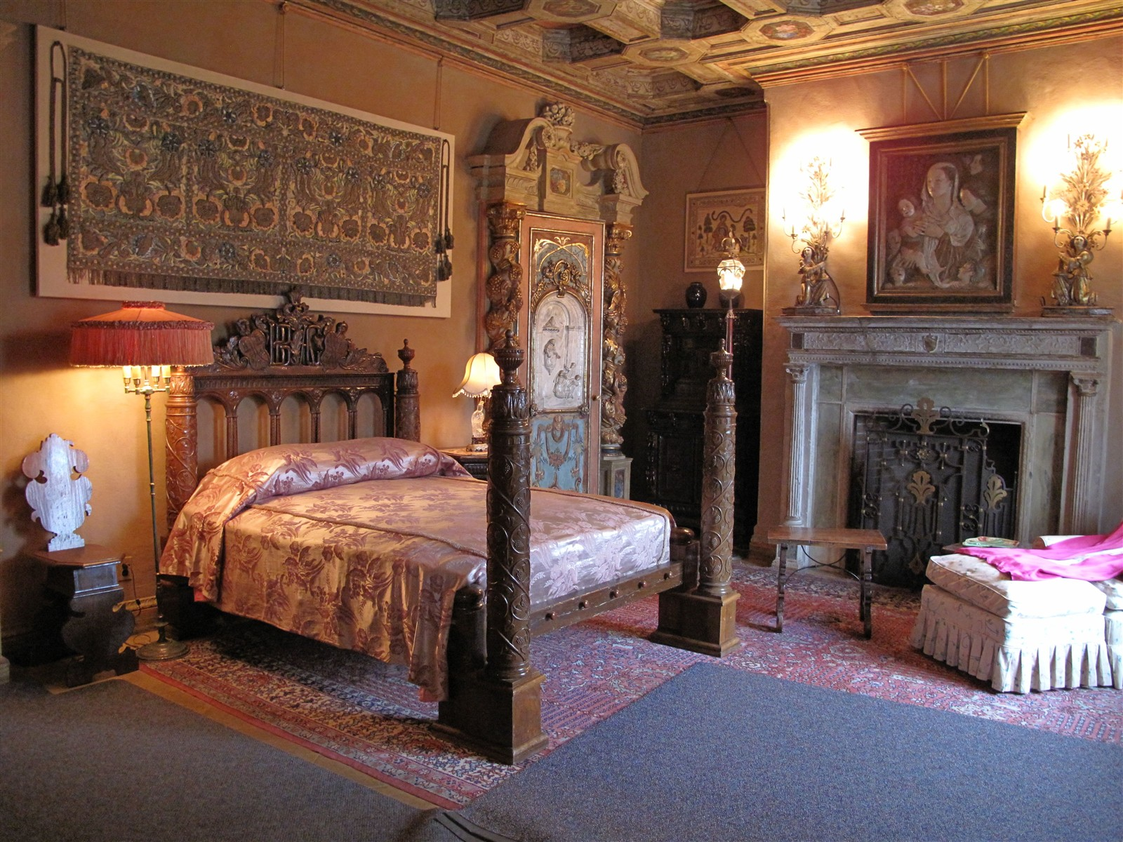 hearst castle bedroom img 0247 len gee galleries