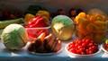 Healthy food on display