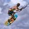 Phillip Kervel AKA FlipTheBird McFly kitesurfing into a storm in Aruba during Hi-Winds