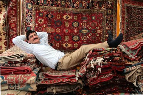 Antique rug merchant