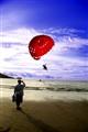 Behind parasailing