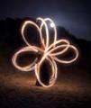 Poi Fire Clover Leaf