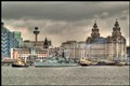 HMS LIVERPOOL LEAVING HER HOME PORT OF LIVERPOOL
