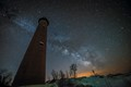 Night Sky over Little Sable Lighthouse
