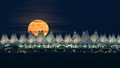 Denver Airport Moonrise