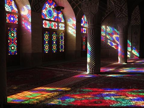 Winter Prayer Hall Masjed Nasir-al-Molk Mosque Shiraz Iran