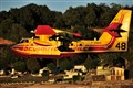 Canadair in flight