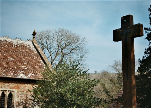 Somerset church and Cross