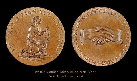 c. 1795 Conder Token, Middlesex 1038b